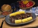 Steak and Corn on the Cob Photographic Print by Gale Beery