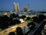 Skyline at Night, San Antonio, TX Photographic Print by Richard Stockton