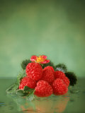 Raspberries Photographic Print by Sylvia Bissonnette