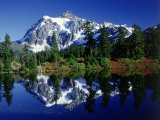 Mt. Shuksan Reflected in Highwood Lake, WA Photographic Print by David Carriere