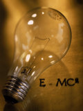 Lightbulb, Einstein's Theory of Relativity Photographic Print by Ellen Kamp