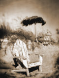 Blurred Image of Chair on Beach, Amelia Island, FL Photographic Print by Kent Dufault