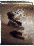 One Hundred Dollar Bills Forming a Large Stack Photographic Print