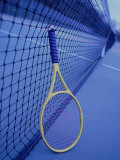 Tennis Racquet Against Net Photographie par Henryk T. Kaiser