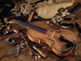 Violin and Tools Photographic Print by Martin Fox