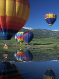 Hot Air Balloons, Snowmass, CO Photographie par Fred Luhman