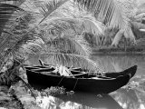 Kovalum, Kerala, India, Boat in Village Photographic Print by Elisa Cicinelli