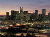 Skyline at Sunrise, Denver, CO Photographic Print by Tom Dietrich