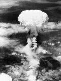 WWII Mushroom Cloud Wall Poster August 9, 1945 11:02 am Nagasaki, Japan, Photographic Print