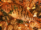 Grilled Fish and Shrimp Fotografie-Druck von Peter Ardito