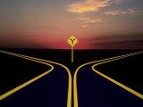 Fork in Road Fotografisk tryk af Henryk T. Kaiser