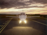 Corporate Jet on Runway Photographic Print by Stephen Collector