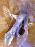 Ballet Slippers Over Wings and Music Sheet Photographie par Ellen Kamp
