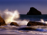 Harris Beach, Crashing Waves, Oregon Photographic Print by Russell Burden