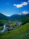 Otztal-Otz Valley and Town of Solden, Tyrol, Austria Photographic Print by Walter Bibikow