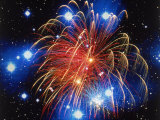 Fireworks and Stars Photographic Print by Terry Why