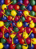Colorful Golf Balls and Tees Photographie par David Carriere