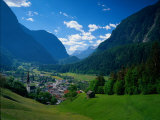Otztal-Otz Valley & Town of Oetz, Tyrol, Austri Photographic Print by Walter Bibikow