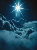 Sun Glare Above Clouds Photographic Print by Bruce Clarke