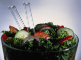 Garden Salad in Bowl Photographic Print by Jeff Bray