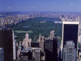 Aerial of Central Park and Buildings, NYC Photographic Print