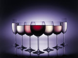 Glasses of Wine Photographic Print by Bud Freund