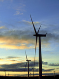 Wind Turbines at Sunset, Caithness, Scotland Photographic Print by Iain Sarjeant