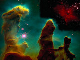 Eagle Nebula, Taken from Hubble Telescope, Photographic Print