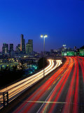 I-5 Traffic with Car Streaks, Seattle, WA Photographic Print by Jim Corwin