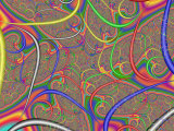 Abstract Fractal Design with Multi-Coloured Patterns and Shapes Photographic Print by Albert Klein