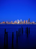 Seattle Skyline, Elliot's Bay, Seattle, WA Photographic Print by Jim Corwin