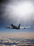 Peter Walton - Airplane Flying Through Clouds Fotografická reprodukce