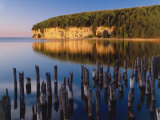 Sunset Light on the Cliffs on Big Bay De Noc at Fayette State Historic Park, Michigan, USA Photographic Print by Willard Clay