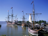 Ship Replicas, Jamestown Settlement, VA Fotografie-Druck von David Ball