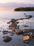 Sunset Light on the Rocky Shore of Green Bay at Peninsula State Park, Wisconsin, USA Photographic Print by Willard Clay
