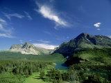 Landscape at Many Glacier, Montana, USA Photographic Print by Stan Osolinski