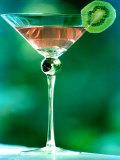 Martini with Kiwi Slice Photographic Print by Fabrizio Cacciatore