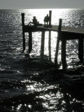 Early Morning Fishing, Cedar Key Pier, FL Photographic Print by Pat Canova