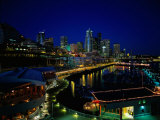 New Marina WAterfront at Night, Seattle, WA Photographic Print by Jim Corwin