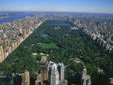 Aerial View of Central Park, NYC Fotoprint van David Ball