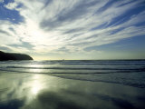 Clouds and Sky with Beach, Cornwall, UK Photographic Print by Ian West