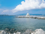 Kefalonia, the Lighthouse of Aghioi Theodoroi at Argostoli Stampa fotografica di Ian West