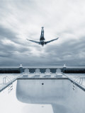 Man Diving Into an Empty Pool Photographic Print by Joseph Hancock