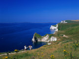 Durdle Door Coastline, Weymouth Bay, Dorset, UK Photographic Print by David Ball