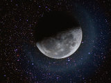 Moon and Stars Photographic Print by Dennis Lane