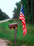 American Flag on Rural Mailbox, North Florida Photographic Print by Pat Canova