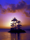 Small Island at Sunrise, South Pacific, HI Photographic Print by Tomas del Amo