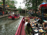 Lunch Cruise Along River Walk, San Antonio, TX Photographic Print by Pat Canova