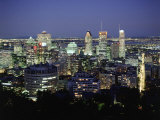City Skyline, Montreal, Quebec, Canada Photographic Print by Walter Bibikow