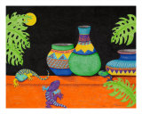 Moon Over My Geckos Too! Giclee Print by Judy Newcomb